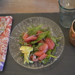 california summer grapefruit arugula spinach salad
