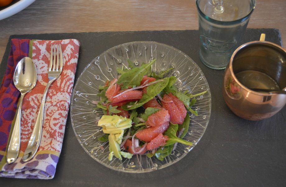 California Summer Grapefruit and Arugula Salad