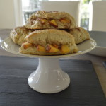serve peach and apricot buttermilk scones