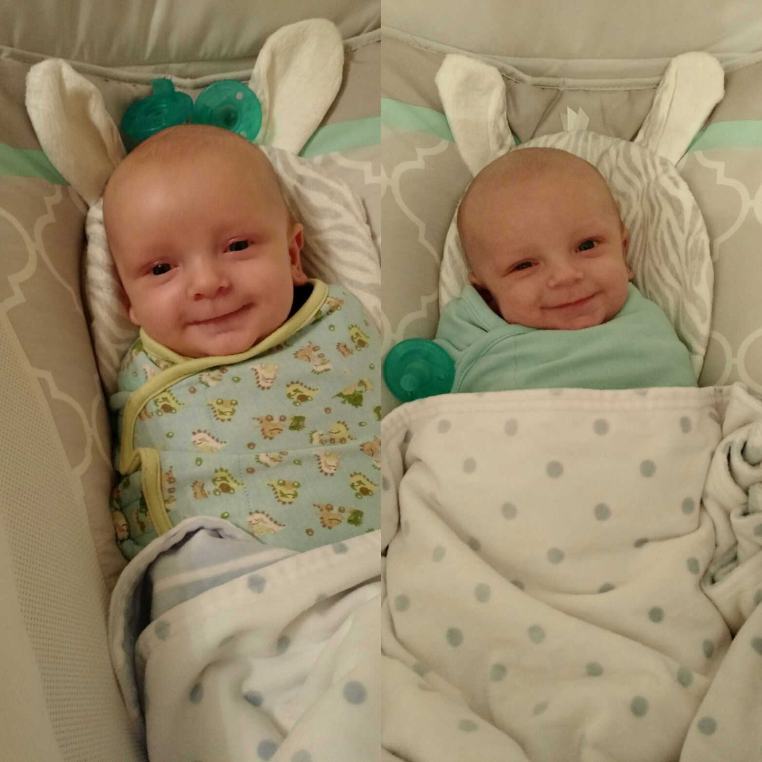Alternatives to crib for babies - Twins Sleeping In Rock N Play Bassinets