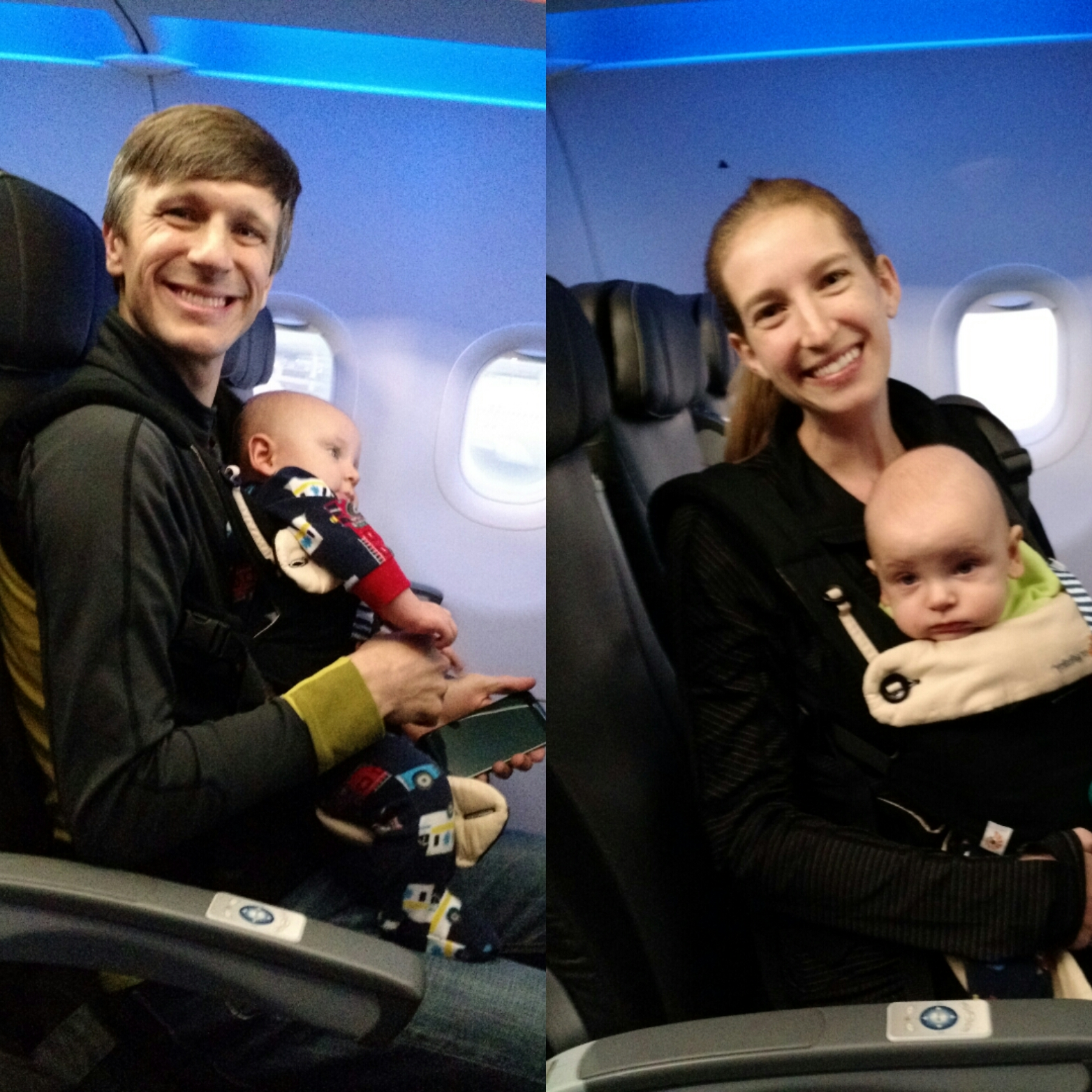 traveling plane with twins