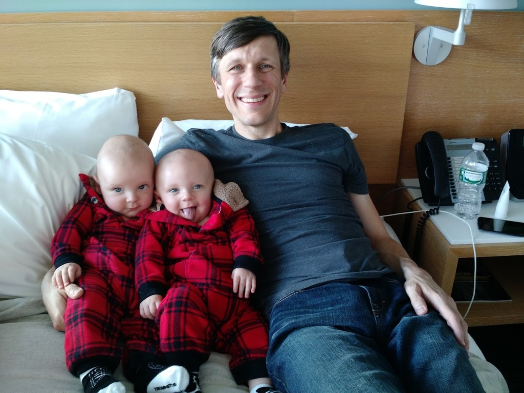hotel stay with twins