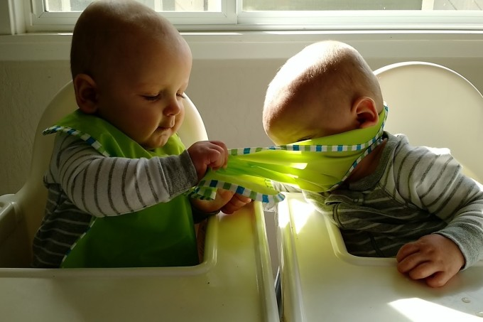 Feeding Twins in Highchairs